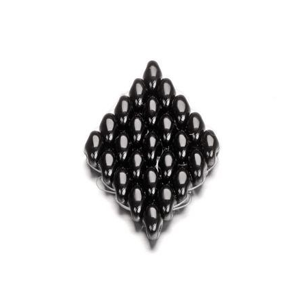 Duo Beads 2 trous 2,5 x 5 mm noir opaque 12g