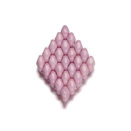 Duo Beads 2 trous 2,5 x 5 mm rose opaque 8g