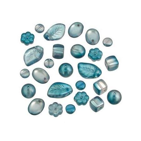 Ass.Per. en verre opaque turquoise15g