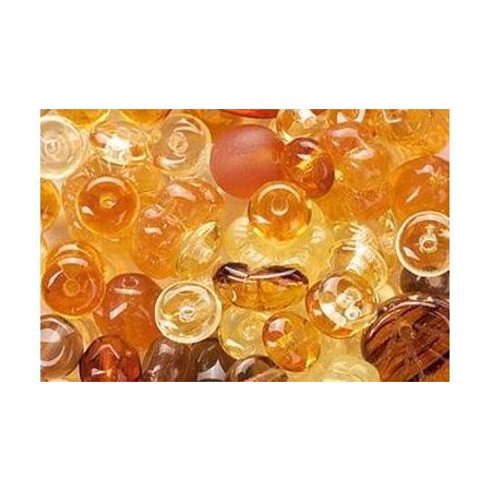 Assortiment de perles en verre doré SB