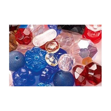 Assortiment de perles en verre multicolor SB