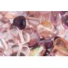 Assortiment de perles coeur en verre rose
