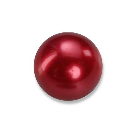 Perles en verre nacrées de Bohème rouge foncé 4mm