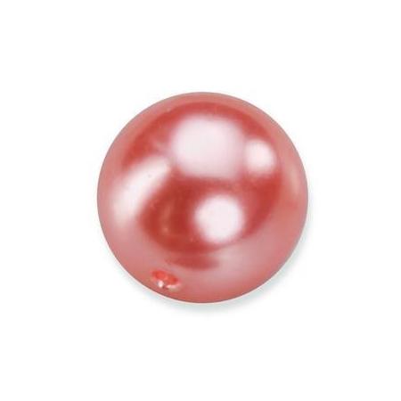 Perles en verre nacrées de Bohème saumon 4mm