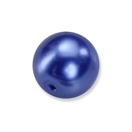 Perles en verre nacrées de Bohème bleu 4mm