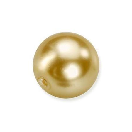 Perles en verre nacrées de Bohème doré 4mm