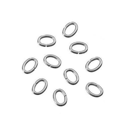 Anneaux en métal ovale 3,5x5mm