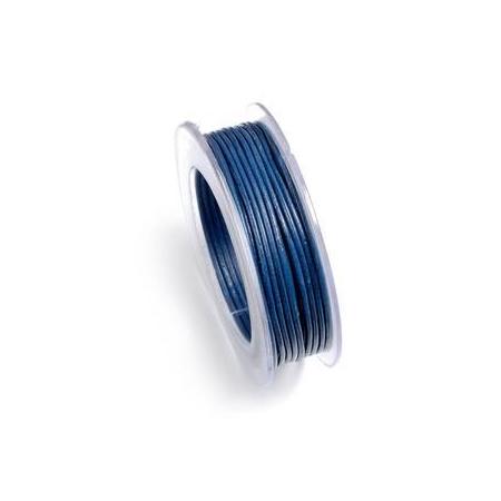 Lacets de cuir 1mm 5m bleu