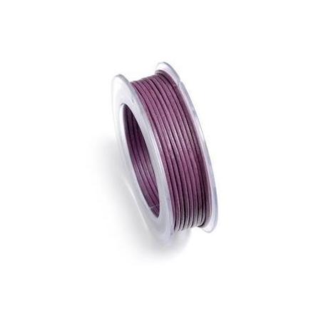 Lacets de cuir 1mm 5m violet