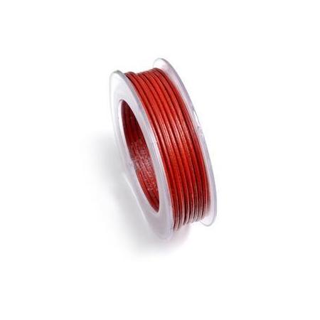 Lacets de cuir 2mm 5m rouge