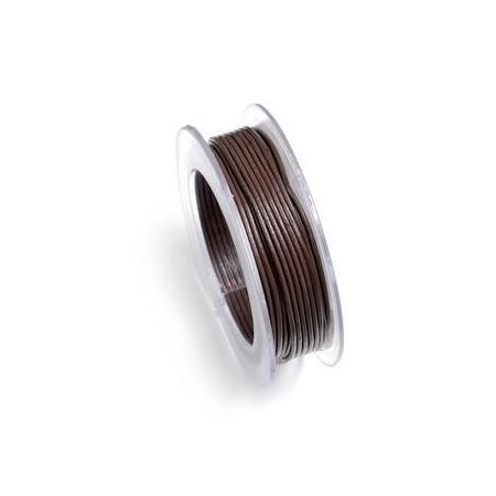 Lacets de cuir 1mm 5m brun cho