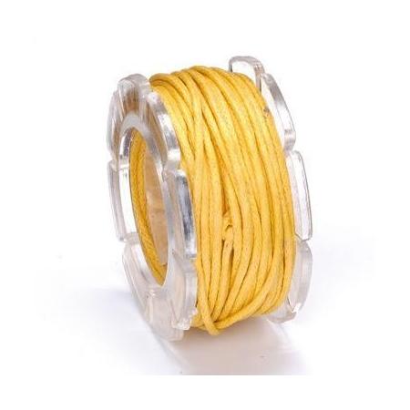 Cordon ciré jaune 1mm 5m