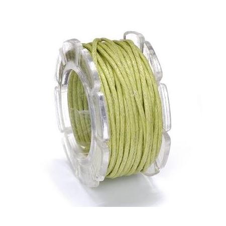 Cordon ciré vert clair 1mm 5m