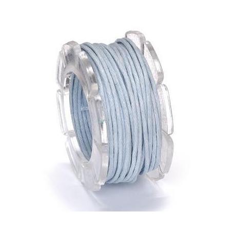Cordon ciré bleu clair 1mm 5m