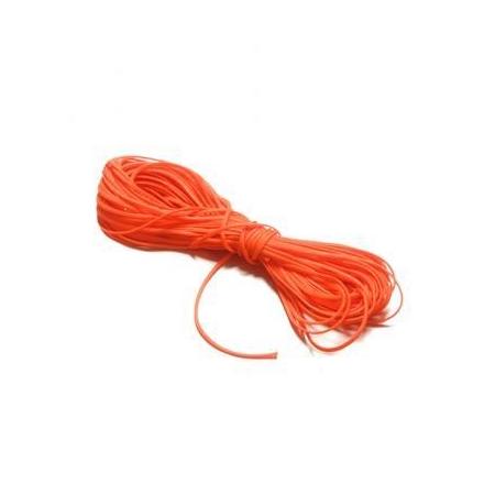 Cordon polyester 0,8mm orange foncé SB5m
