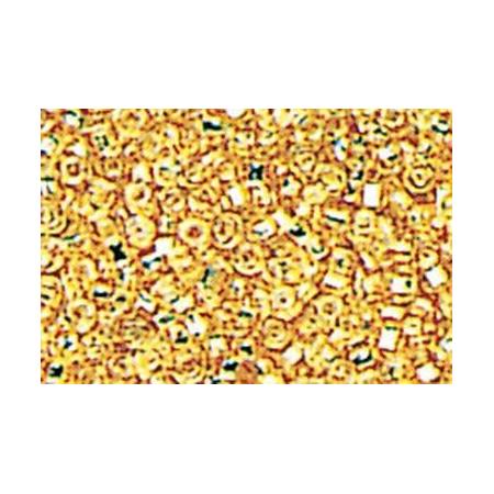 Rocailles hexagone doré 15 grs