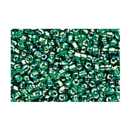 Rocailles hexagone vert émeraude 15 grs
