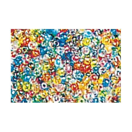 Rocailles mix rond reflets argentés 15 grs