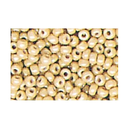 Rocailles ronde opaque , caramel 15 grs