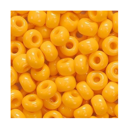 Rocailles indiennes 5mm orange 35 grs