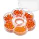 Assortiments de perles en verre orange + cordon