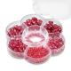 Assortiments de perles en verre bruyère + cordon