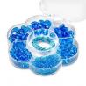 Assortiments de perles en verre turquoise + cordon