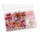 Assortiments de perles rose 5 compartiments