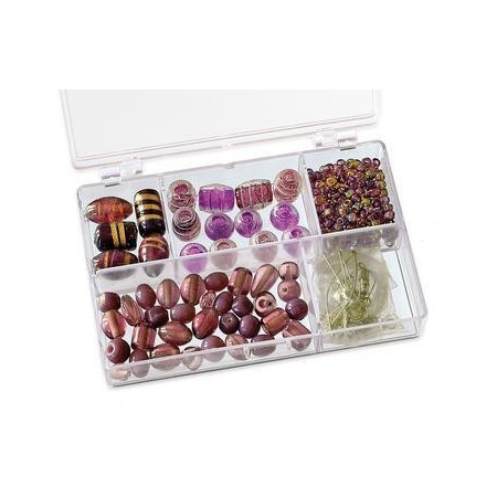 Assortiments de perles lilas 5 compartiments