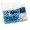 Assortiments de perles bleu clair 5 compartiments