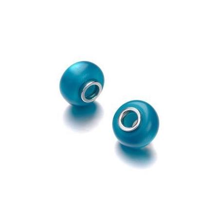 Perle polaris grand trou turquoise