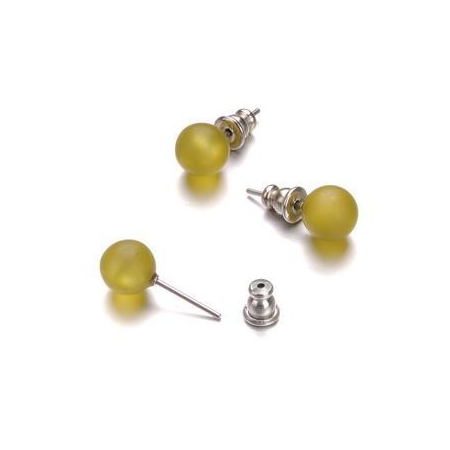 Support Boucles d'oreilles 8mm olive