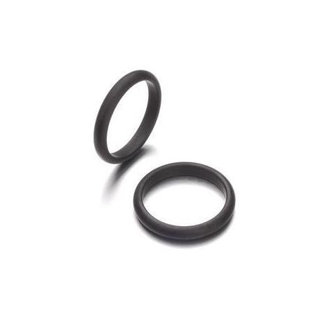 Bague Polaris3mm,taille18 noir