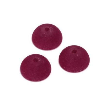 Demi Perle Polaris Aspect Pierre 14mm rouge foncé