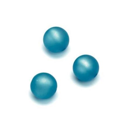 Perles Polaris mates 10mm turquoise