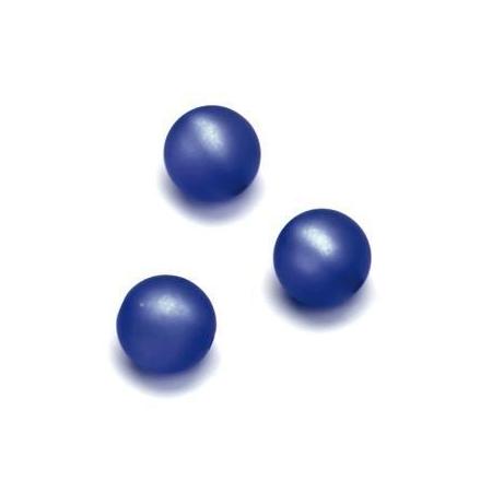 Perles Polaris mates 10mm bleu foncé