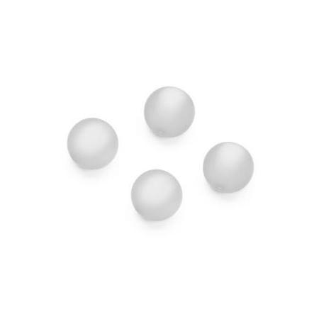 Perles Polaris mates 10mm blanc
