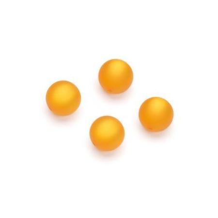 Perles Polaris mates 10mm jaune or