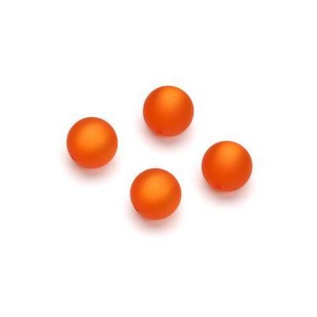 Perles Polaris mates 10mm orange