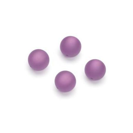 Perles Polaris mates 10mm lilas