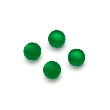 Perles Polaris mates 10mm vert
