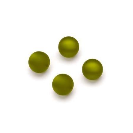 Perles Polaris mates 10mm olive