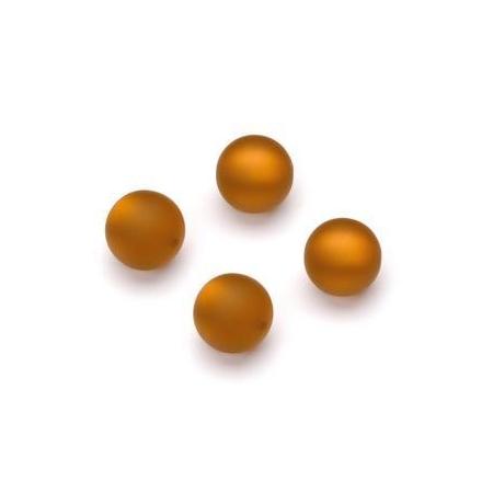 Perles Polaris mates 10mm brun