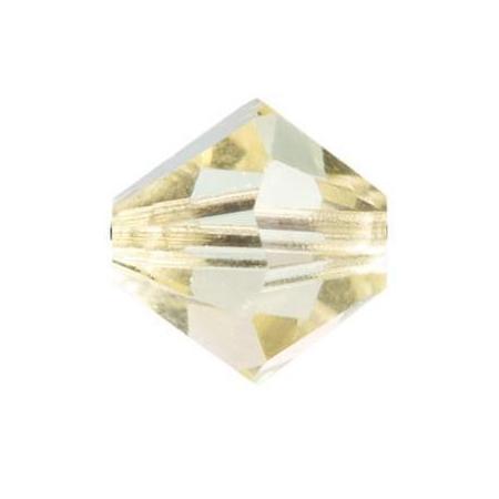 Perle toupie 4mm jonquille Swarovski