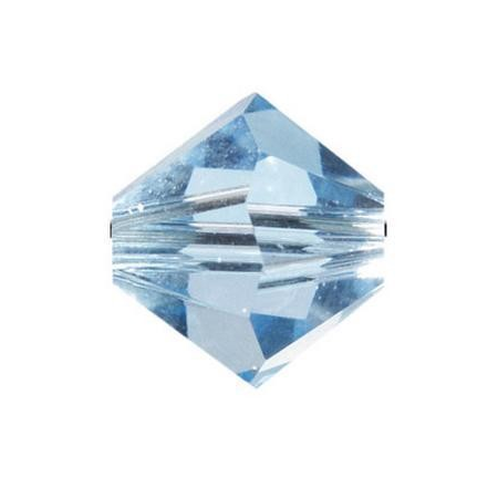 Perle toupie 4mm aquamarine Swarovski