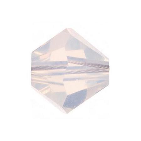 Perle toupie 4mm opale blanc Swarovski