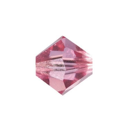 Perle toupie 6mm rose Swarovski