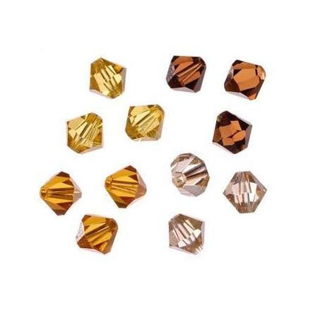 Set de perles Swarovski toupies jaune