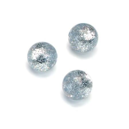 Perles Polaris Scintillante 12mm bleu clair