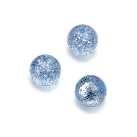 Perles Polaris Scintillante 12mm bleu moyen
